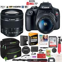 Canon EOS Rebel T7 DSLR Camera + 18-55mm IS II Lens Kit + Case & Warranty Bundle