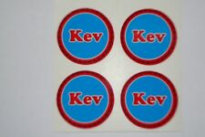 "Kev    12  CROWN GREEN STICKERS  1""  LAWN BOWLS FLATGREEN  AND INDOOR BOWLS"