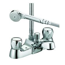 BRISTAN VALUE CLUB LUXURY BATH SHOWER MIXER TAP CHROME METAL HEADS VAC LBSM C MT