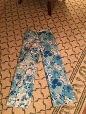 Lilly Pulitzer The Lilly Vintage Blue Floral Women's Pants