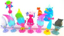 TROLLS 12 Figure Set DREAMWORKS PVC TOY Cake Topper POPPY Branch DJ SUKU Biggie!
