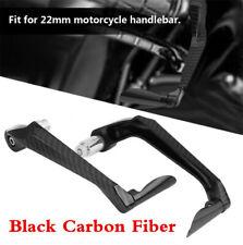 "Motorcycle 7/8"" Brake Clutch Levers Handlebar Protect Guard Black Carbon Fiber"