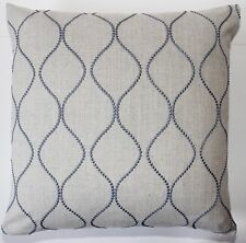 Shabby Chic Retro Style Embroidery Cushion Cover John Lewis ELLEWOOD KNOT Fabric