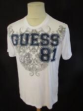 T-shirt Guess Blanc Taille M à - 59%