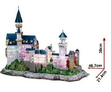 Detailed LED Lighted Architectural Model Neuschwanstein Castle Mint in Box