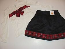 Gymboree Merry Occasion Girls Size 5 Christmas White Bow Skirt Top Red NWT