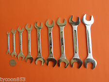 "MADE IN JAPAN SPANNER O/E WRENCH SET 9Pce A/F 1/4"" - 1"" FULLER PRO QUALITY"