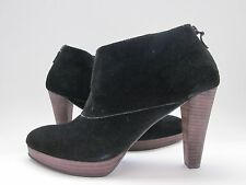 $348 NWD Cole Haan Darcy Ankle Booties Black Suede Women's 9.5