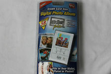 Digital Photo Album*AS SEEN ON TV*Credit Card Size*58 Photos*Color Display*NEW*