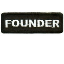 FOUNDER  MOTORCYCLE CLUB -BIKER- VEST - PATCH
