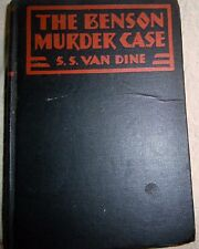 S S Van Dine THE BENSON MURDER CASE 1st HB Golden Age Mystery 1st Philo Vance