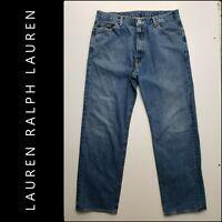 Lauren Ralph Lauren Men Denim Straight Leg Relaxed Jeans Size 36