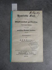 M.R.U. Georgi Blindenanftalt zu Dresden Monoyer ophtalmologie optique médecine