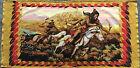 Wesco-reltex Barkcloth Panel Fabric Tapestry. Native American Print