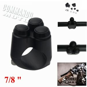 """Black 3 Button Hand Control Momentary Switch For 7/8"""" Bars Motogadget M-switch"""
