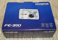Olympus FE-310 Digital Silver Camera Video 8 MP 5 X Optical Zoom 2.5 LCD (BIN18)
