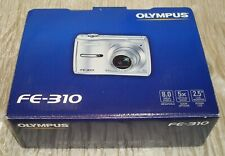 Olympus FE-310 Digital Silver Camera Video 8 MP 5 X Optical Zoom 2.5 LCD (BIN18)