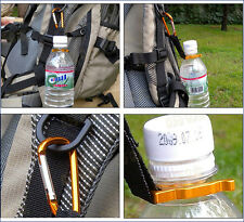 Water Bottle Holder Hook Buckle Clip Carabiner Snap Outdoor Camping Hiking Yunos