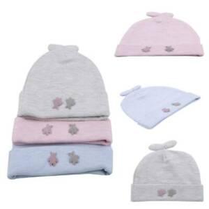 Baby Newborn Infant Soft Cotton Fetal Hospital Cap Beanie Hat Windproof Cap R