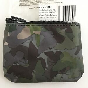 JuJuBe Butterfly Forest Coin Purse Army Green Limited Edition