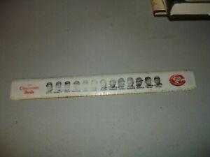 "Vintage 1968 Cincinnati Reds 12"" Ruler Pete Rose, Johnny Bench, Tony Perez, Good"