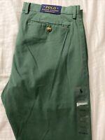 POLO Ralph Lauren Chino Pants Strerch Slim Fit Green 34/32