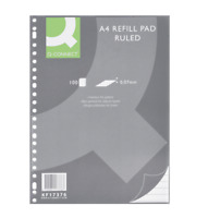 Q-Connect A4 Refill Pad Ruled 70gsm 100 Sheets Pack of 10
