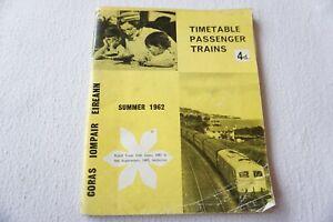 1962 CIE Irish Railway Passenger Train Timetable with Map Ireland
