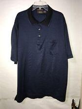Jasso Elba Men's Golf Polo Shirt , Size Small , Blue , Black Stripes