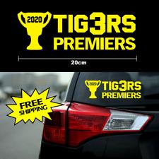 TIGERS 2020 Premiers sticker 20cm AFL Richmond FC members yellow vinyl car decal