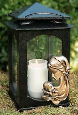 Grablaterne Grablampe Grableuchte Grabschmuck Bronze Motiv inkl. Grablicht Kerze