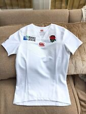 Canterbury England Rugby World Cup 2015 Home 'Pro Fit' Shirt Worn Once Mint Cond