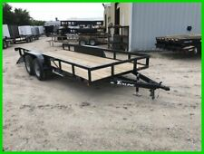 77 x 16 16' UTV Farm Tractor Side Open Flatbed Mower Utility Cargo Trailer DFW