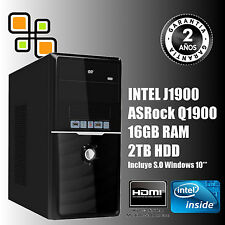 PC de Sobremesa Ordenador Intel Quad Core 9.6GHz + 16GB RAM + 2TB HDD (HDMI)