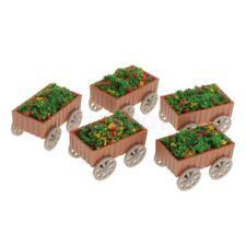 5Pcs Model Floats Flowerbed Park Garden Railway Border Parterre 1:50 O Scale