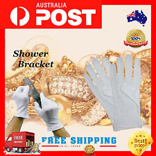 1 Pairs Practical White Coin Jewelry Silver Inspection Cotton Lisle White Gloves