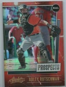 2021 Playoff Absolute Baltimore Orioles Adley Rutschman Red Prospect card /99
