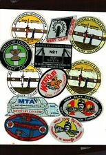 NICE LOT OF 12 AUSTRALIA WEST CLIFF COAL MINING STICKERS # 484