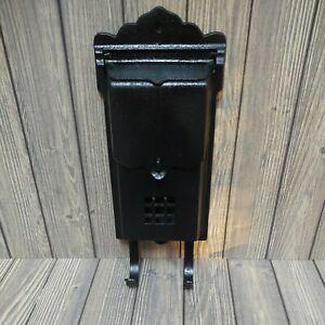 💌 Vintage Cast Iron MAILBOX NEWSPAPER Wall Mount - Letters Postman -Antique