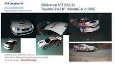 Decal 1 43 TOYOTA CELICA N°10 Rally WRC monte carlo 1996 montecarlo