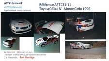 Decal 1 43 TOYOTA CELICA N°10 Rally WRC monte carlo 1996 montecarlo