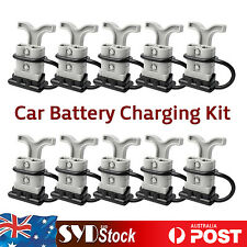 Battery Quick Connector Plug 12-24V 50AMP 50A 6AWG + T Handle + Dust Cover 10PC