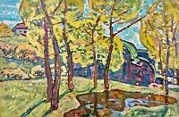 painting art vintage landscape old autumn impressionism decor Autumn collection