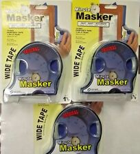 "Minute Masker 65752 Blue Painters Tape & Dispenser 1/2"" x 30yds 3 Pks"