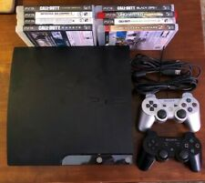Sony PlayStation 3 PS3 Slim Console CECH-2001A 120GB, 8 Games, 2 controllers