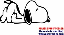 Vinyl Decal Sticker - Snoopy Sleeping Peanuts Dog Car Truck Bumper Window Fun 7""