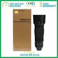 New Nikon AF-S NIKKOR 200-500mm f/5.6 E ED VR Lens - 3 Year Warranty F/5.6E