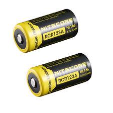 2PCS Nitecore RCR123A 16340 650mAh NL166 Li-ion Protected Rechargeable Battery