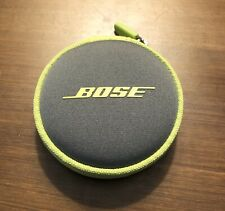 BOSE Earbud Round Zipper Case Storage Pouch [Lime Green]