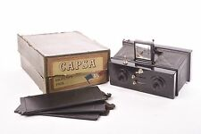 Capsa Stereo camera by Demaria Lapierre with original box. 45x107mm.